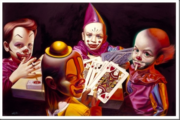 pintura__Ron-English-2006-Clown-Kids-Playing-Poker_jpg_w500