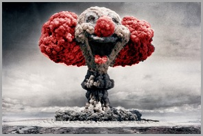 Mushroom Cloud Clown - Red
