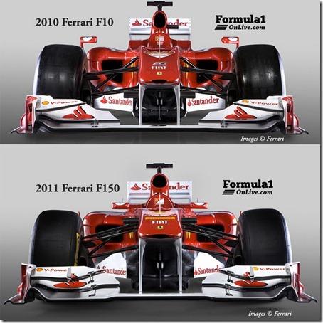 2011-Ferrari-F150-and-2010-Ferrari-F1