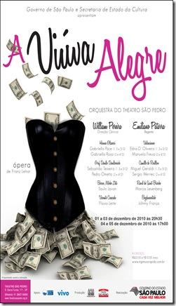 Viúva Alegre - cartaz da peça