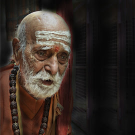 wisdom of ages by Arnab Bhattacharyya - People Portraits of Men