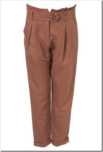 ruffle back tapered trousers