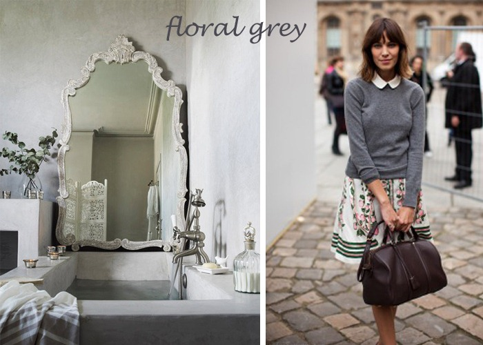 Floral Grey