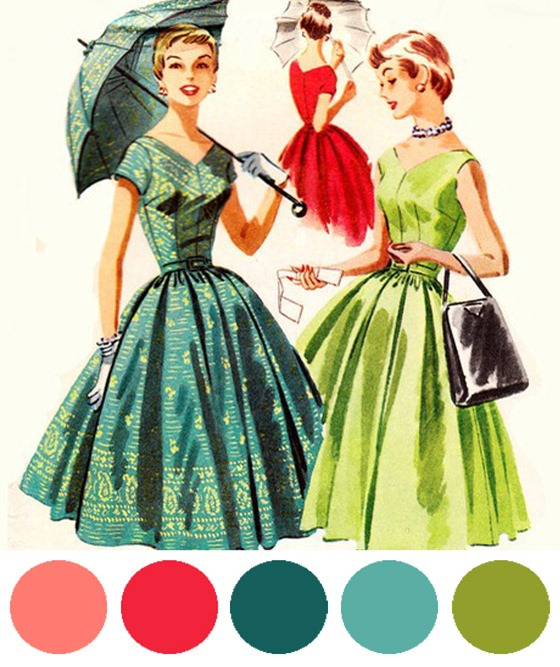 vintage dress parasol pattern