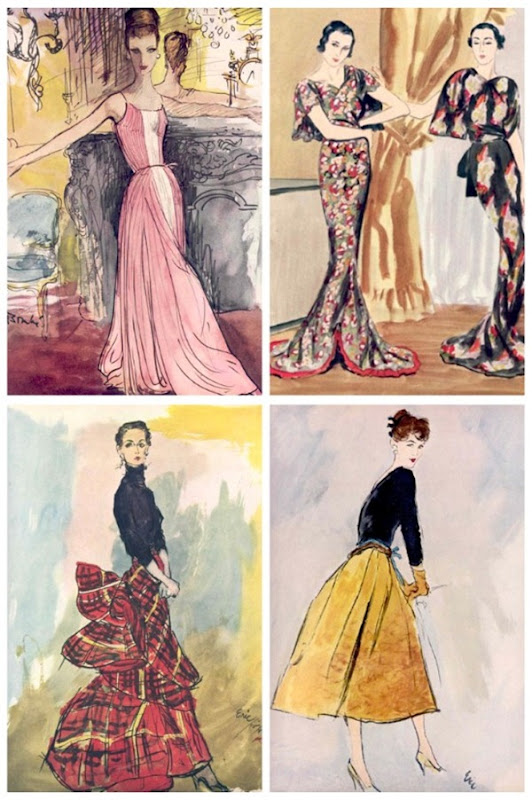 vintage vogue collage