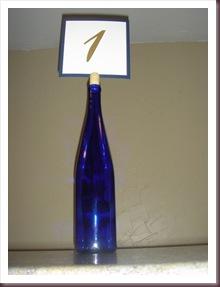 DIY Table numbers - Bottles