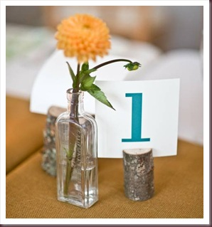 DIY Table numbers - Bottles
