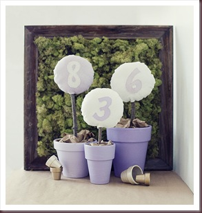 DIY Table numbers - Pot