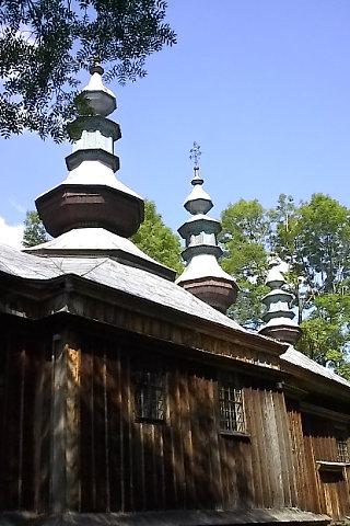 Cerkiew p.w. Orędownictwa Matki Bożej (Pokrow), Komańcza, 2001.