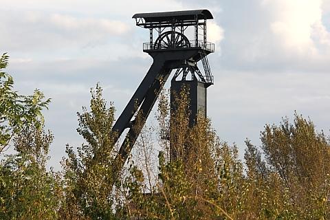 Szyb kopalni węgla kamiennego.