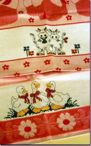 asciugamani mucche papere