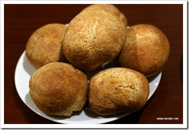 Home Made Whole Wheat Buns