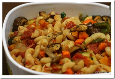 Pasta with Baked Vegetables