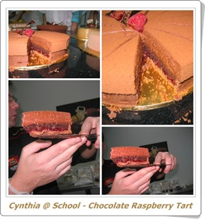 blog - chocolate raspberry tart