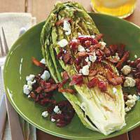 Guy's Grilled Romaine with Bacon-Blue Cheese Vinaigrette