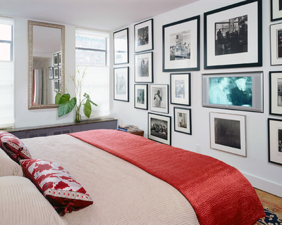 bedroom_wall art grouping_red white_Delson or Sherman Architects_desire to inspire nov13 08