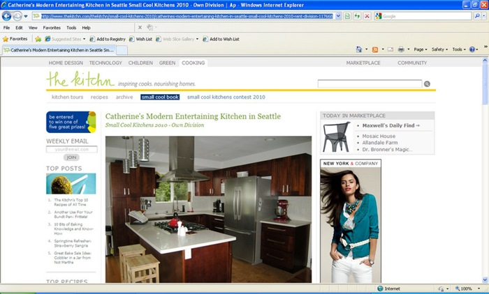 Catherine's Modern Entertaining Kitchen in Seattle Small Cool Kitchens 2010 - Own Division  Ap - Windows Internet Explorer 5252010 95221 PM