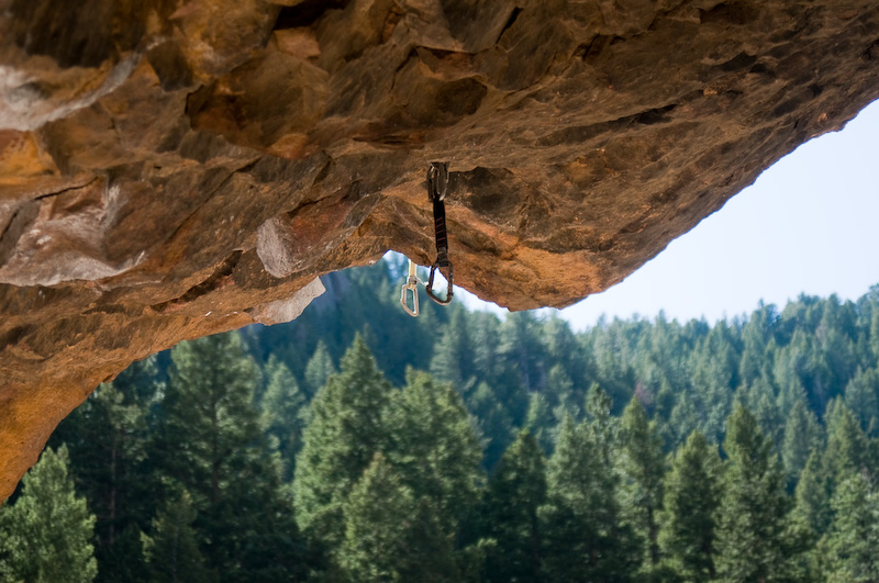 Hooks left in the rocks by climbers; not sure if they do it on purpose or just forgot.