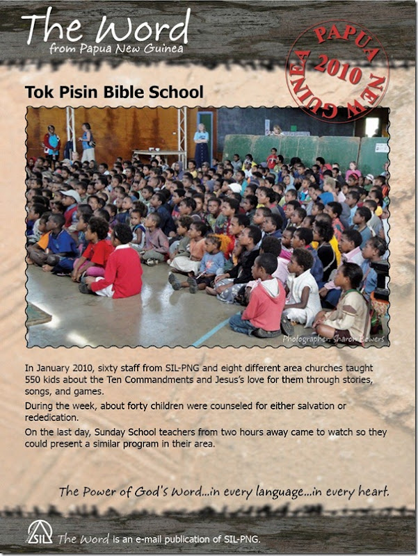 2010-12-22 Tok Pisin Bible School