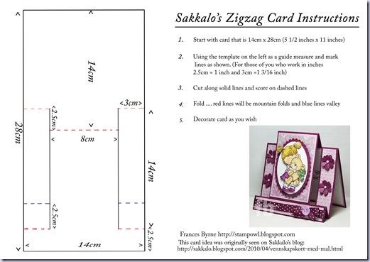 Sakkalo's Zigzag Card Instructions