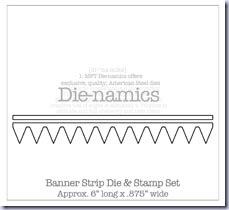 SMBanner Strip DIe & Stamp Set Die-namics