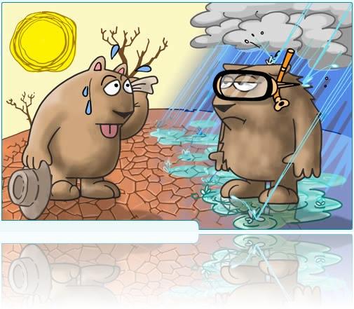 caricatura cambio climatico