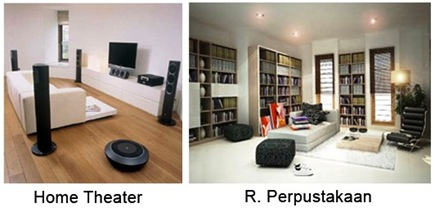 Ruang perpustakaan dan Home Theater