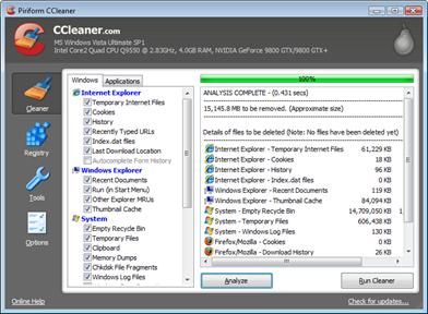 CCleaner - Pembersih sampah di Windows
