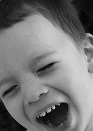 Jackson laughing bw 2