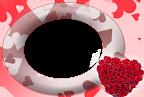 buque de rosas em formato de coração