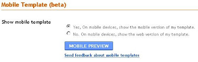 Blogspot Mobile template setting
