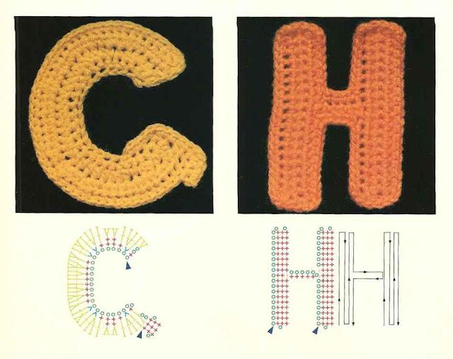 Вязаные буквы английского