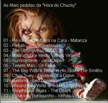 capa costas a hora do chucky