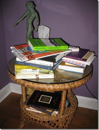 Books at the bedside
