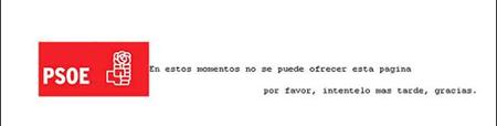 Ataque a las webs Así se vio la pagina del PSOE