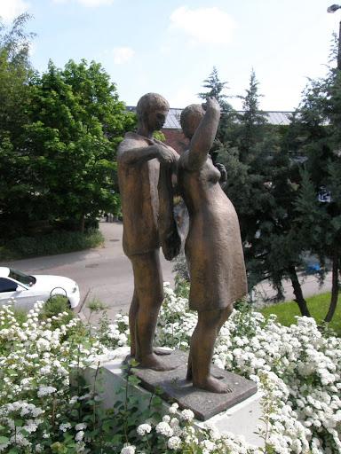 Veszprém, szobor, megyei korház