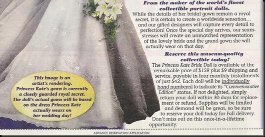Princess Kate doll enlarge