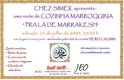 CONVITE CHEZ SIMEK JULHO 2009