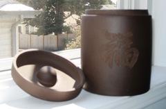 clay tea jar