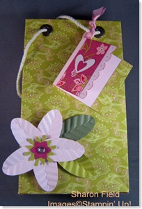 Large Flower Gift Bag Tutorial