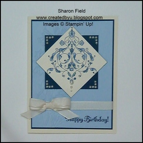 Sketch Frenzy Friday, Always Elegant, Challenge, Sketch, Stampin up, Stamp, Card, Double loop ribbon, Mini Catalog