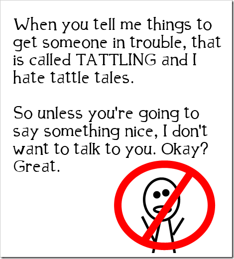 no tattling allowed