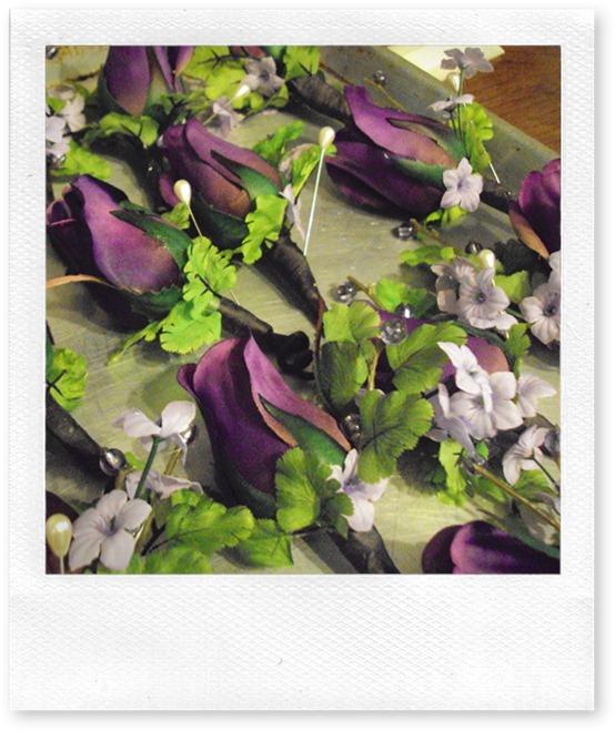 purple rose boutinneire