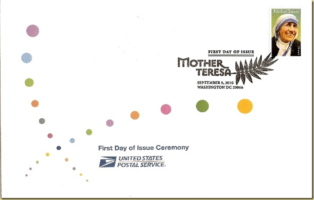 Mother Teresa_Special Ceremony First Day Cover