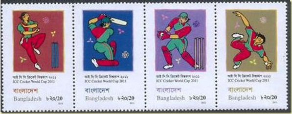Bangladesh 2011 Cricket Stamps