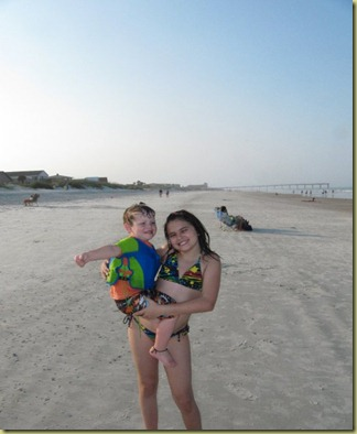 aidyn and Rayna at beach
