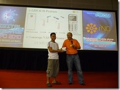 Lucky winner of the new iNO Mobile F8