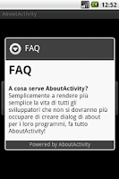 Screenshot of About Activity