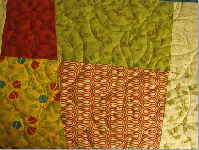 Closeup Christmas Quilt