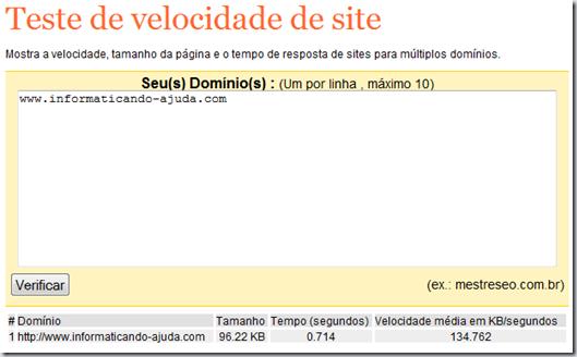 Coloque o endereço do seu site, sem o www nem o http